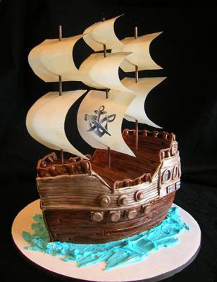 How to make a pirate boat birthday cake recipes